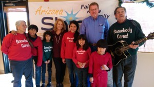 We were all invited to Arizona Shine for an interview - Kids sang over the Radio. Fun!